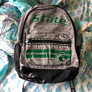 Michigan State, PINK Book Bag